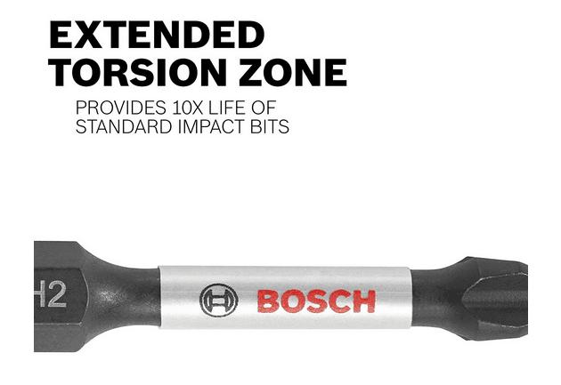 Bosch 8 Pce 50 mm PH2 Impact Contrôle De Torsion Bit Set 2608522330